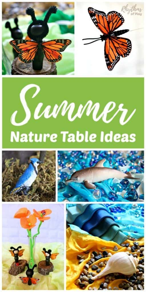 Summer nature table ideas for children