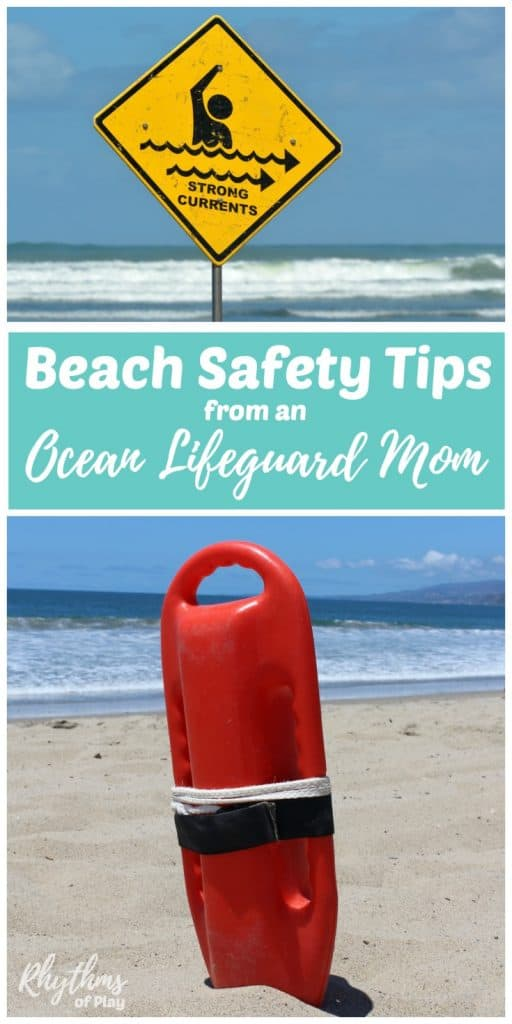 Keep your family safe this summer with these 25 Beach and water safety tips from an ocean lifeguard mom. Includes information about rip currents, how to teach your kids about ocean conditions and water safety, swimming tips, and basic first aid information for parents, caregivers, and families.