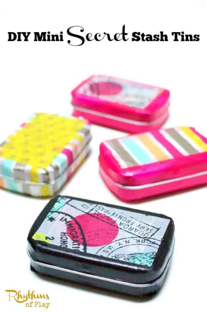 DIY mini secret stash tins