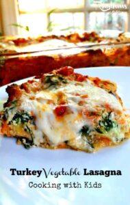 Turkey Vegetable Lasagna Cooking with Kids