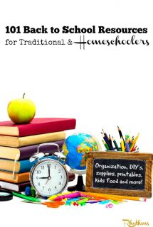 101 Back to School Resources for Traditional and Homeschoolers
