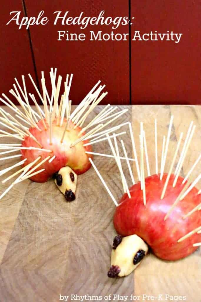 Apple Hedgehogs Fine Motor Activity