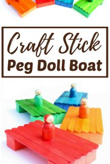DIY Craft Stick Peg Doll Boat for Kids