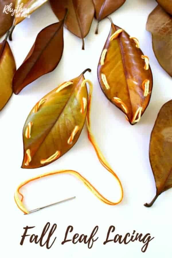 Fall Leaf Sewing for Kids | Rhythms of Play