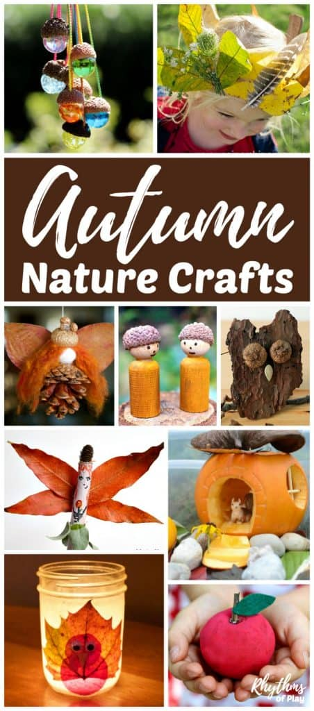 Fall Nature Crafts for Kids and Teens. Autumn is one of the best times of year to make fall nature crafts. There are always amazing treasures like leaves, pinecones, acorns, and walnuts, for the kids to find and make into something beautiful. #fall #crafts