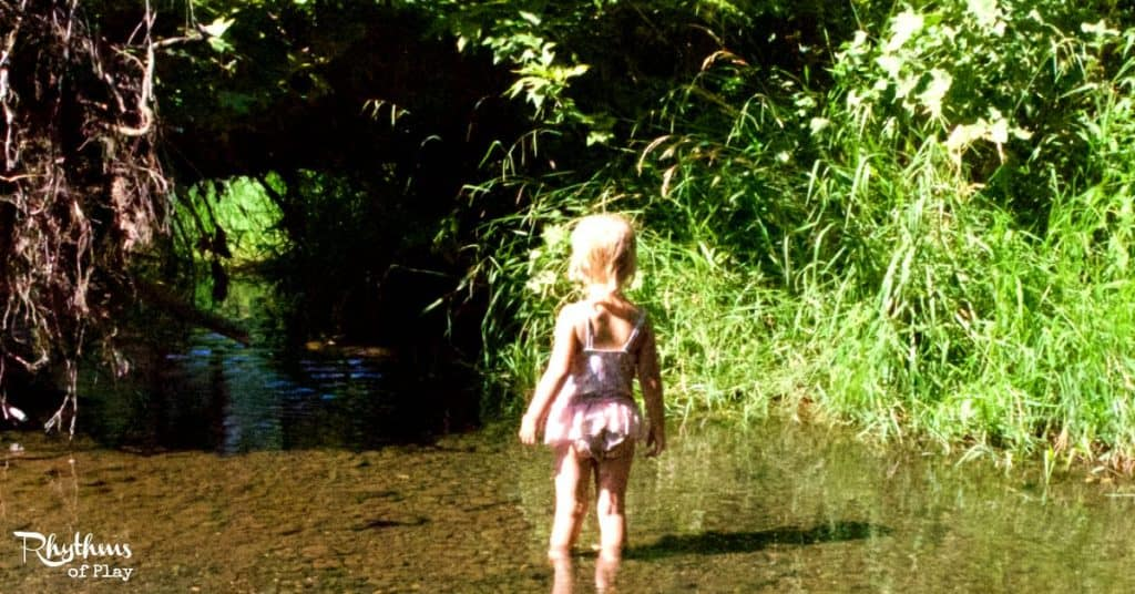Play in a creek