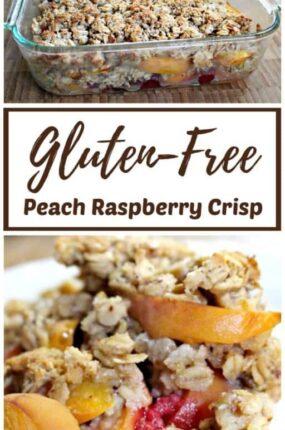 Gluten-Free Peach Raspberry Crisp Recipe