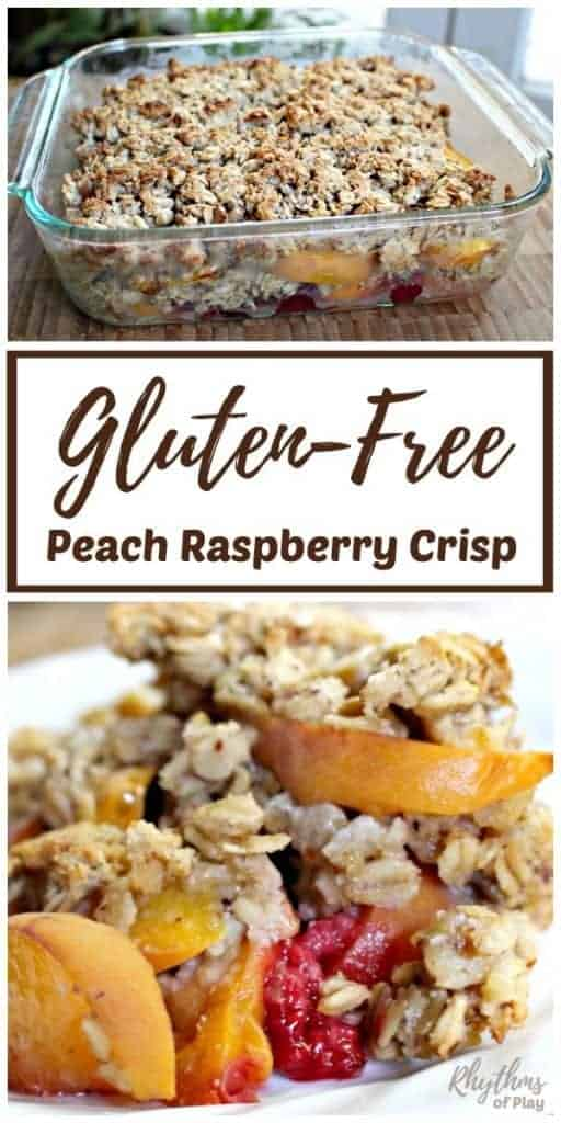Gluten-Free Peach Raspberry Crisp Recipe