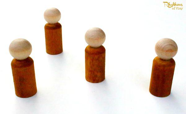 DIY Acorn Peg Dolls