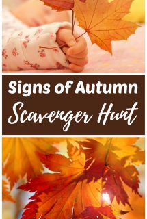 Signs of Autumn Fall Scavenger Hunt for Kids