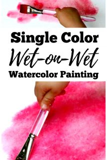 Single Color Wet-on-Wet Watercolor Painting