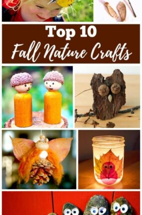 Fall Nature Crafts for Kids and Teens. Autumn is one of the best times of year to make fall nature crafts. There are always amazing treasures like leaves, pinecones, acorns, and walnuts, for the kids to find and make into something beautiful.#fall #crafts
