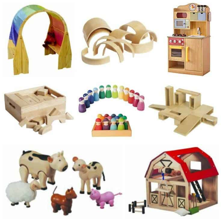 These 15 open-ended toys for imaginative, pretend or dramatic play provide the perfect solution for toddlers, preschoolers and elementary school aged kids. Children begin to understand the world around them through movement and play. They need pretend play materials that meet their needs with each new imagining.