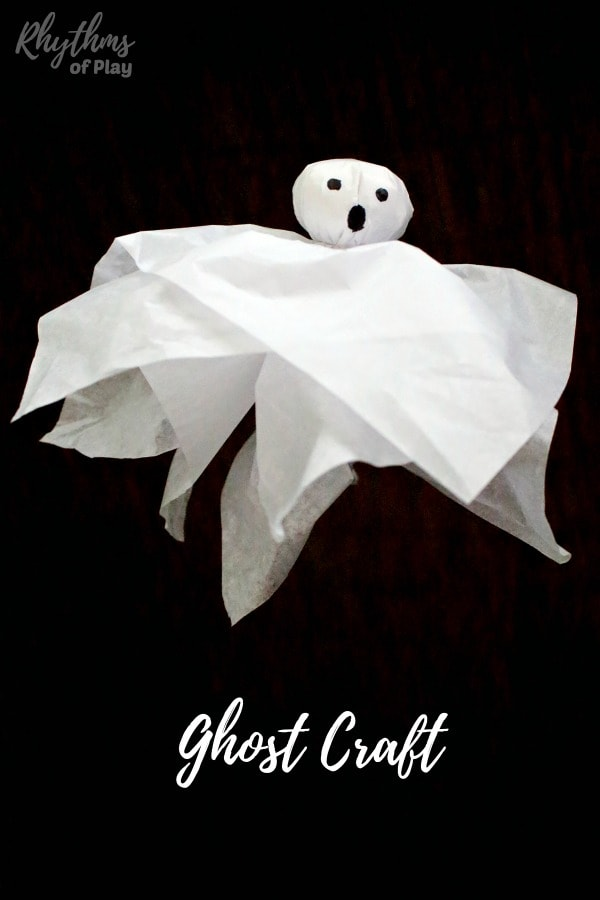 ghost craft and DIY Halloween decoration