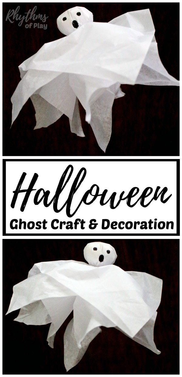 ghost craft and DIY halloween ghost decoration