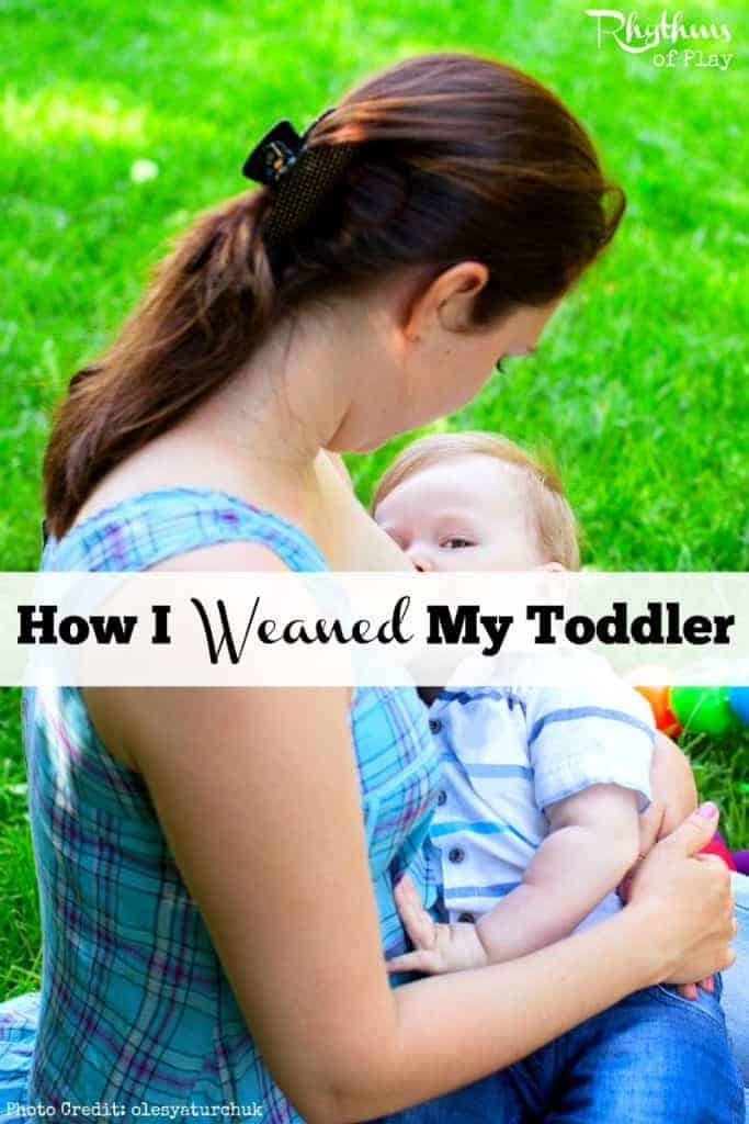 This is the story of how I weaned my toddler from nursing on demand. Contains parenting tips to help you gently wean your children from breastfeeding night and day.