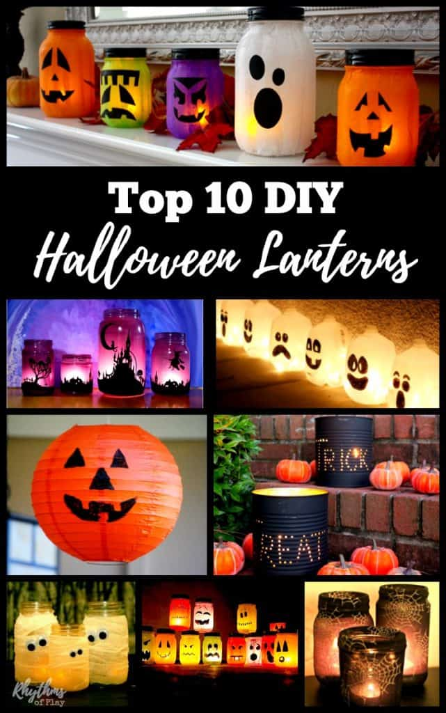 Glowing DIY Halloween lanterns are easy to make. Glowing luminaries are a fun way to  sc 1 st  Rhythms of Play & Gorgeous Glowing DIY Halloween Lanterns | Rhythms of Play