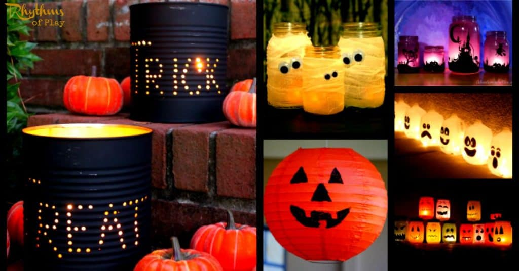 gorgeous glowing diy halloween lanterns rhythms of play - How To Make Halloween Lanterns