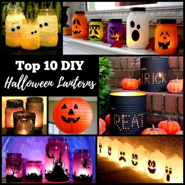 These awesome DIY Halloween lanterns are easy to make. They are a fun way to  sc 1 st  Rhythms of Play & Gorgeous Glowing DIY Halloween Lanterns | Rhythms of Play