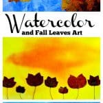 Watercolor and Fall Leaves Art