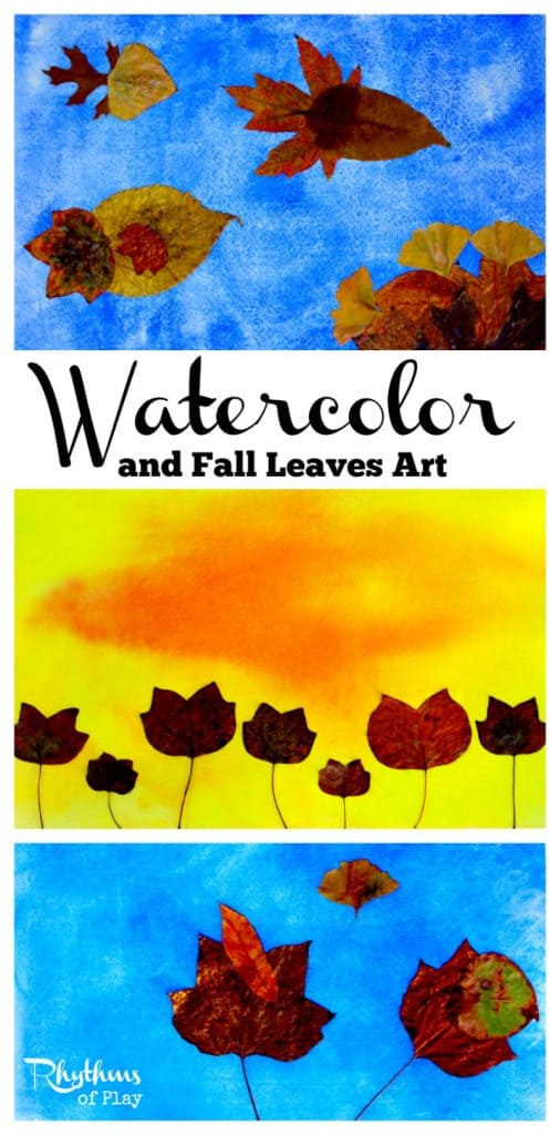 Watercolor and Fall Leaves Art Pin