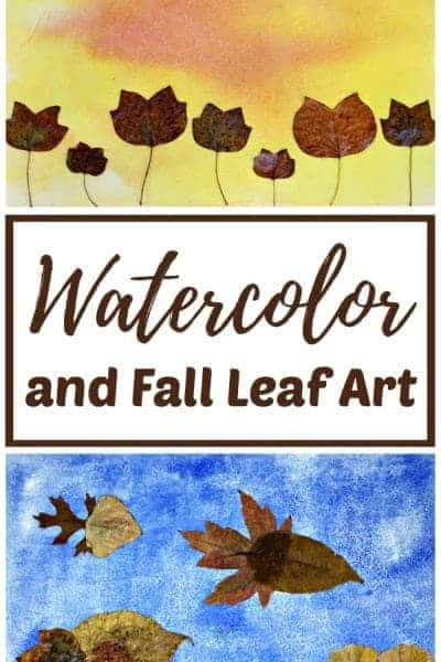 Watercolor and Fall Leaf Art Project for Kids
