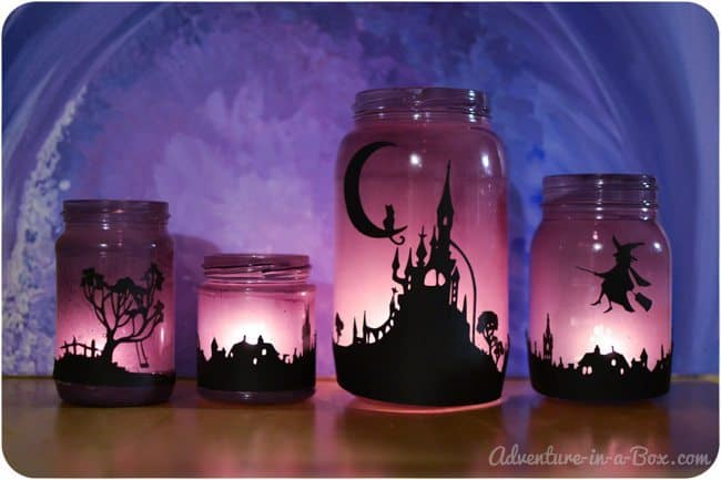enchanted Halloween lanterns cool DIY Halloween decoration