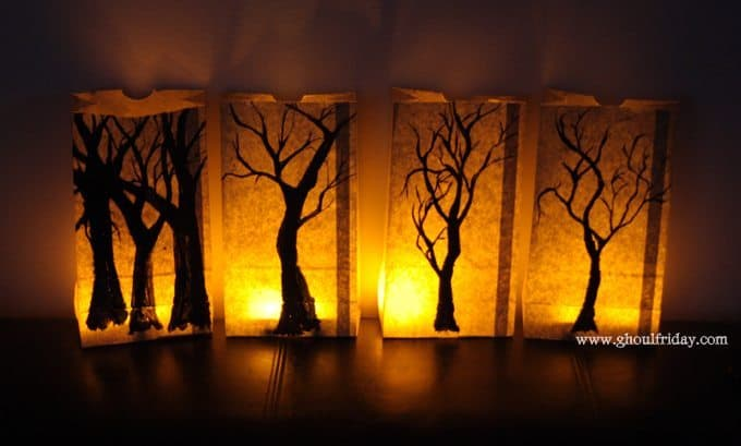 paper bag lanterns ghoulfridaycom - How To Make Halloween Lanterns