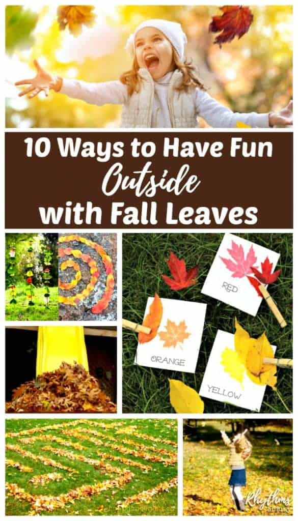 outdoor fall acitivities - 10 ways to play outside with autumn leaves