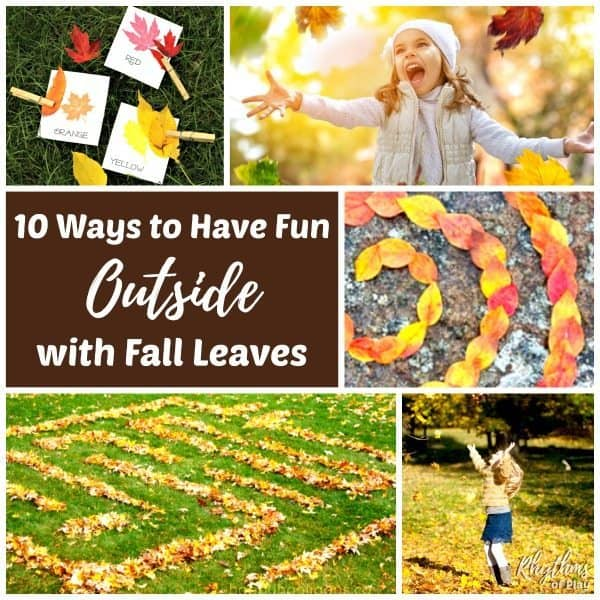 outdoor fall activities - 10 ways to play with fall leaves