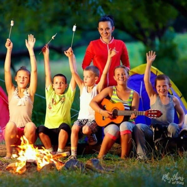 How to build a campfire and campfire safety for camping and bonfire night