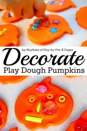 Decorate Play Dough Pumpkins