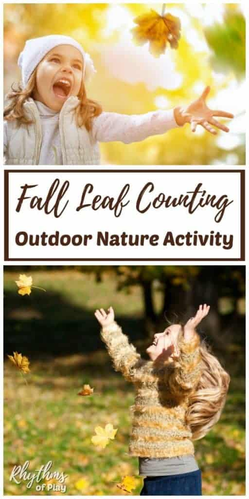 fall leaf counting games - gross motor activity for kids