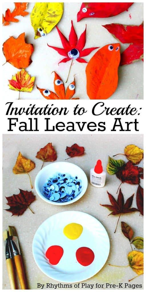 Invitation to Create Fall Leaves Art