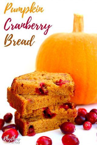 Homemade Pumpkin Cranberry Bread Recipe
