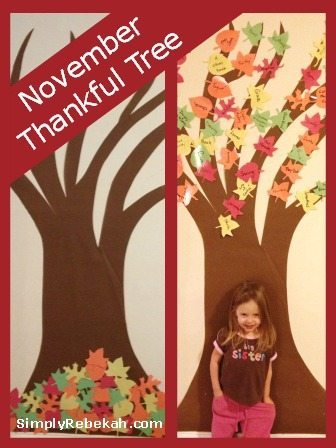 easy Thankful tree for kids by simplyrebekah.com