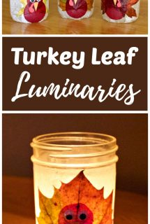 Turkey Leaf Lanterns Thanksgiving Craft