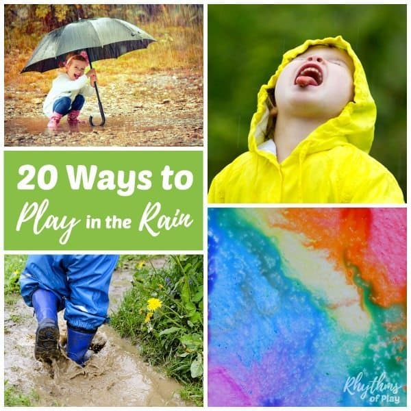 Rainy day activities - 20 things to do outside in the rain for kids