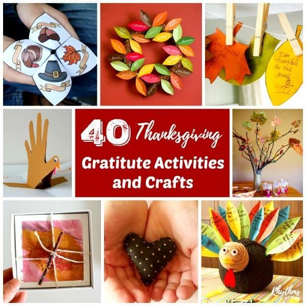 Thanksgiving thankful activities, games, and crafts for kids and families.