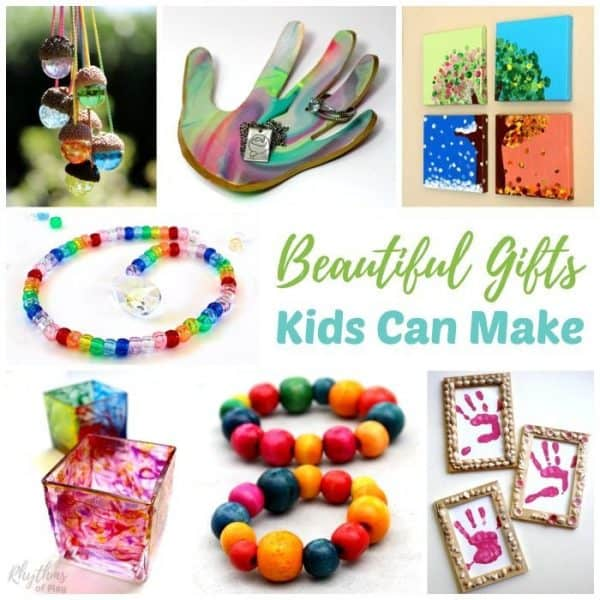 Homemade Gift Ideas Kids Can Make - Handmade gift ideas are always a favorite with mom, dad and the grandparents. Easy to follow DIY directions for each of these unique handmade crafts are provided for each kid-made gift.