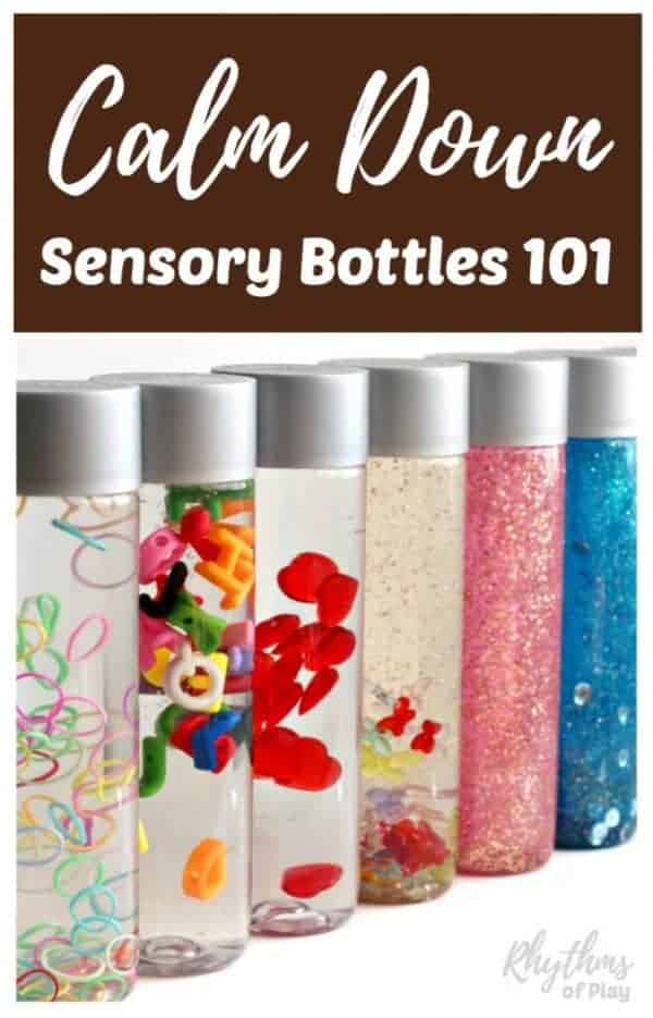 How to make calm down sensory bottles 101