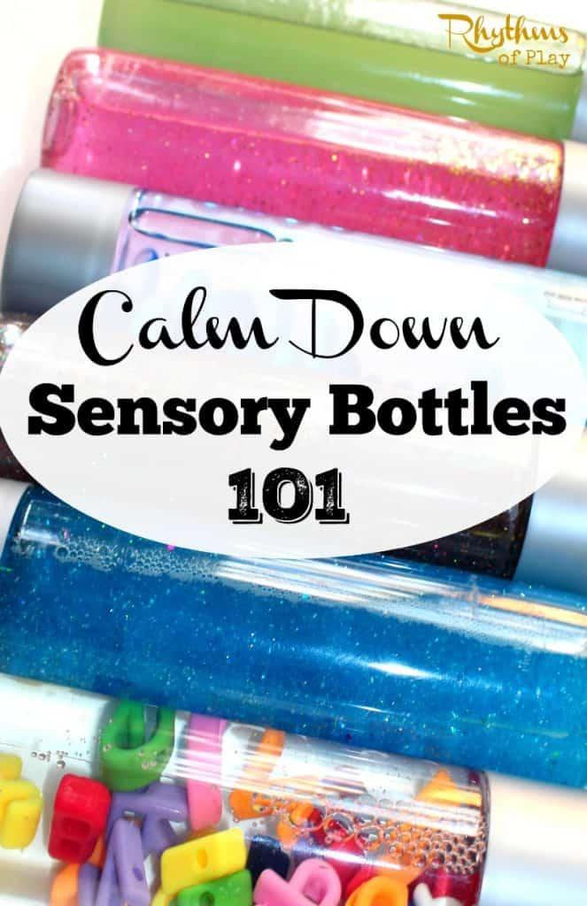 Calm down sensory bottles 101