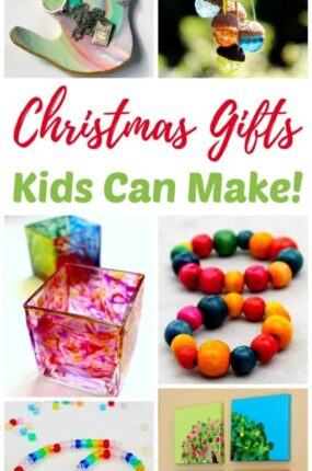 Christmas gifts kids can make makes holiday gift giving fun and easy! Handmade crafts like these DIY kid-made gift ideas for Christmas are always a favorite with friends and family.