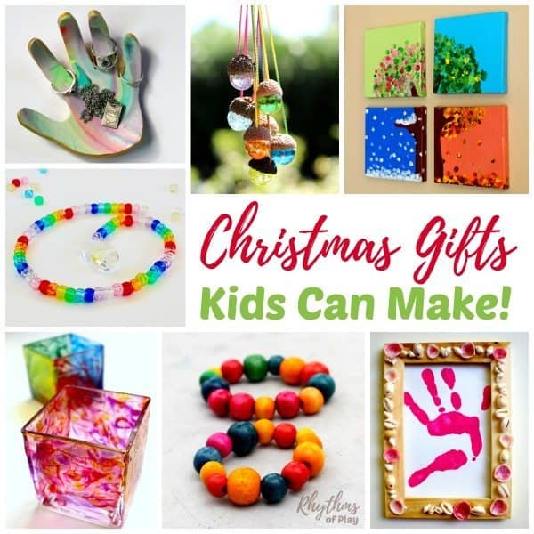 Homemade Christmas gifts kids can make.