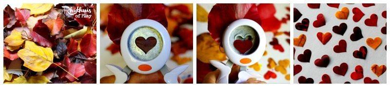 Leaf heart lanterns