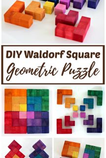DIY Waldorf Square Geometric Puzzle