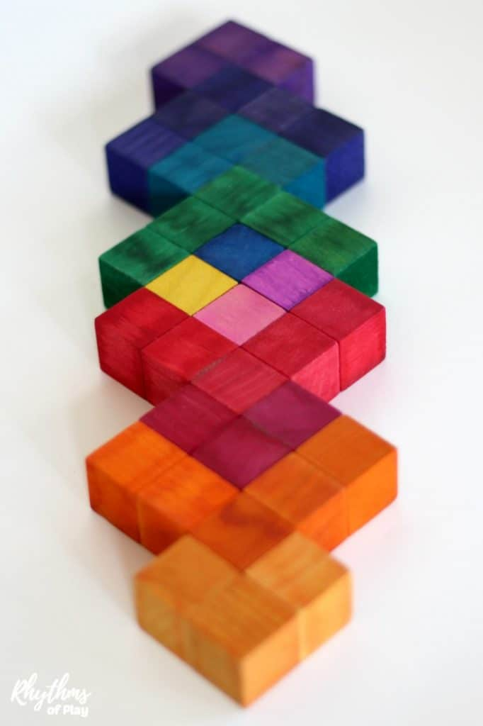 DIY 3d wooden square puzzle DIY Waldorf toy