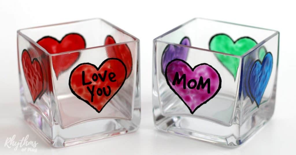 Mother's Day Personalized Votive Candle Holders Gift Idea fb