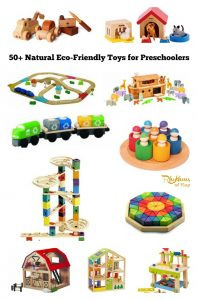 Natural eco-friendly toys for preschoolers
