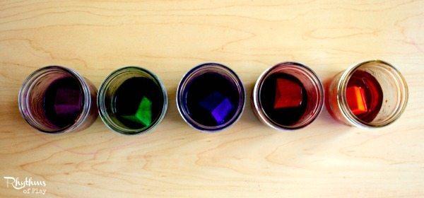 DIY Rainbow Colored Blocks